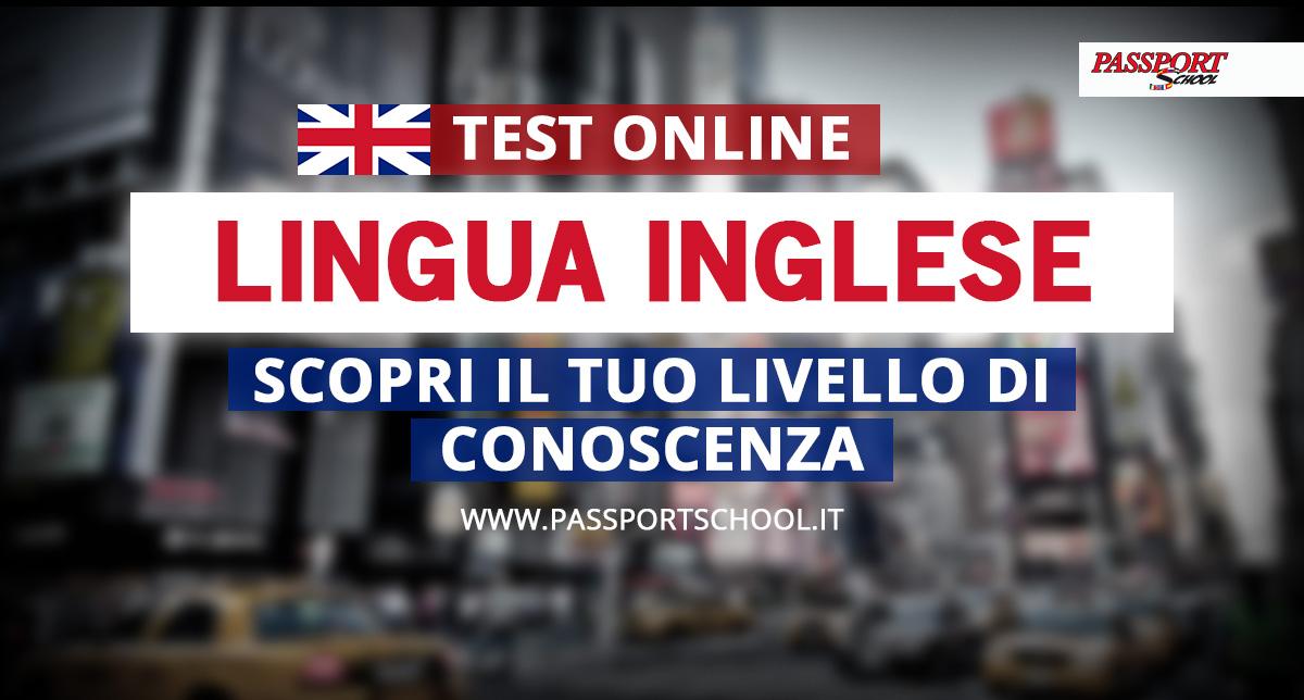 test livello di conoscenza lingua inglese
